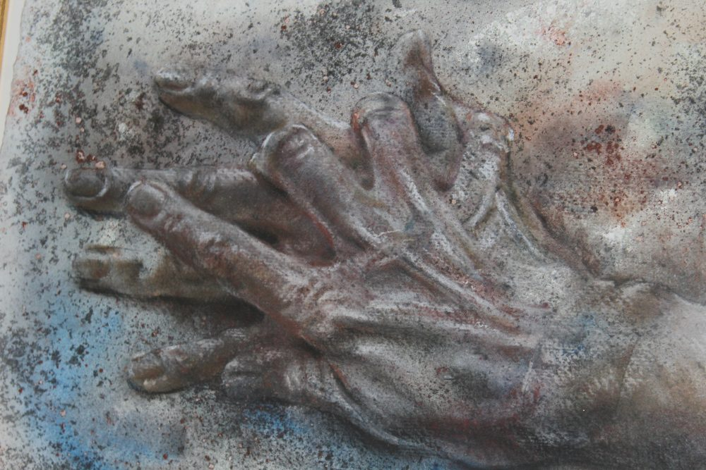 John Keating Hands Fragment 2002 Detail